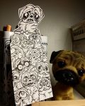 Pug bookmark by ELECTRICPOPPERS