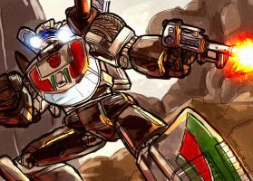 Wheeljack Open Canvas collab by dcjosh