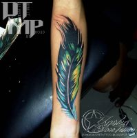 Feather by zorka calore tattoo by surfboyz12