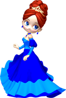 Princess in Blue Poser PNG Clipart (14) by clipartcotttage