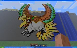 Ho-oh On Minecraft by Miccopicco
