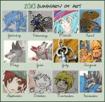2010 Summary of Art Meme by EnchantedTopaz