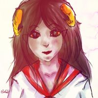 School Girl Aradia by sapheera