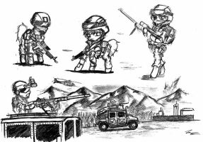 Military Ponies by MRNEIN9