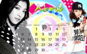 Calendario Abril Luna Ga Yoon by RainboWxMikA