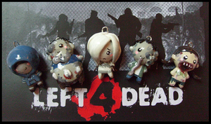 Chibi-Charms: L4D Zombies by MandyPandaa