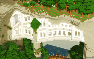 Minecraft Arch Houses by skysworld