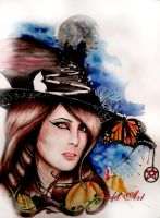 Sharon The Witch by ArtGoldArt