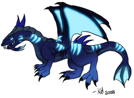 Cobalt Nether Drake by Kat-Aclysm