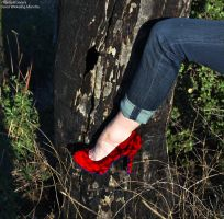 Heels and Nature -Red by TheSplitGemini