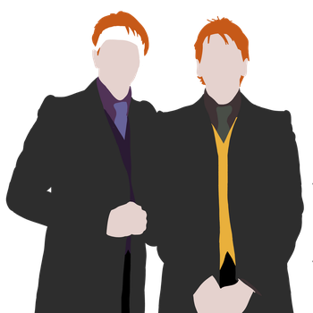 Weasley Twins by Tophats-and-Teacups