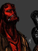Hellboy by EddySawl