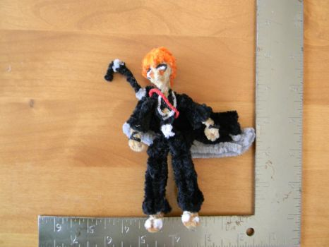 Pipecleaner Ichigo with Zangetsu by Bastetmoon