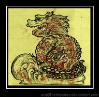 stone dragon by Ace0fredspades