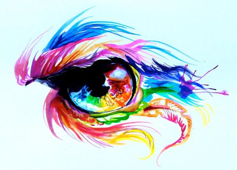 Phoenix Rainbow Eye by Lucky978