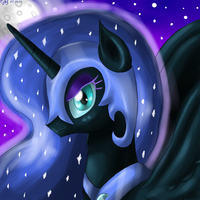 Nightmare Moon Portrait by BudgieFlitter