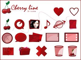 The Cherry Line Icons by gwicons