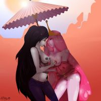 Marceline x Princess BubbleGum by WaiiTako