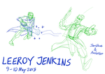 LEEROY JENKINS (Axolotlet and JemiDove) 100515 by JemiDove