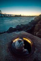 Manhole by the bay by 5isalive