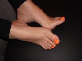 Orange Nails 7 by Whor4cle