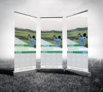 RollUp Banner Mockup by Aibsom