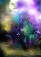 Premade Background 3-PRISM CEMETERY by L-A-Addams-Art