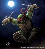 Raphael attacks by Dreamgate-Gad