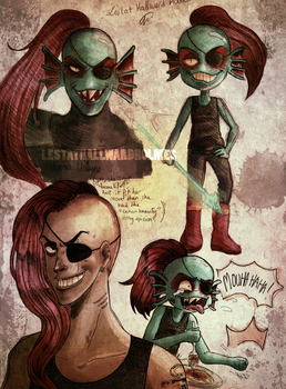 Undyne - color version by LestatHallwardHolmes