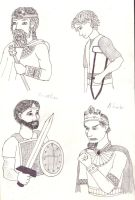 Characters from the book of Samuel by caseva