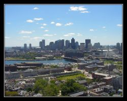 Boston Skyline by fastshadow