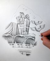 Sketch in Progress (Pencil Vs Camera - 86) by BenHeine