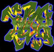 regret graffiti 3D wildstyle by Namingway-Regret