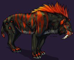 Burn Sabertooth Male by TheTyro