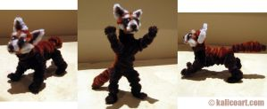 Red Panda -- Pipe Cleaners by kalicothekat