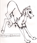 Printable torch hound template by kitoridragoness
