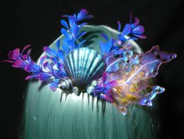Deepsea Dreams - handmade Mermaid Hairpiece by Ganjamira