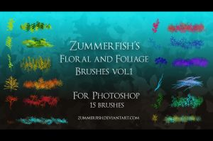 Zummerfish's Floral and Foliage brushes vol.1 by zummerfish