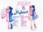 Character sheet: Pinky and Undene by prismpower23