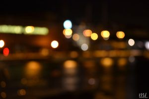 Harbor by night by LMathieu