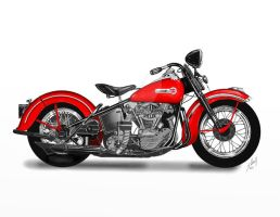 Old School Harley 1946 or 1947 by steverino365
