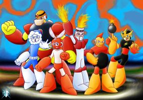 MegaMan Robot Masters by Meteor-05