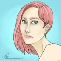 Pink haired lady by hannahcardoso
