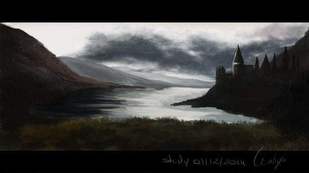 Study landscape speed paint by Wahya-art