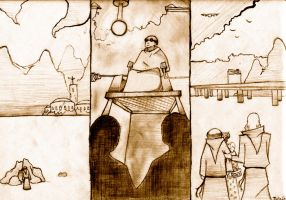 A Triptych for 'A Canticle for Liebowitz' by JakeHGuy