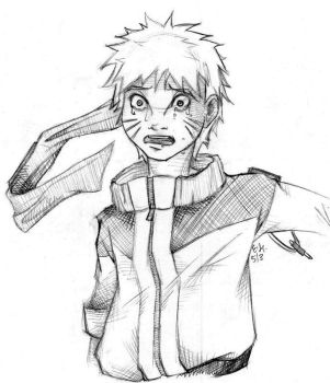 A Naruto Drawing by FrogMouthKid