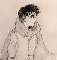Young levi ackerman- sketch by geriwiri