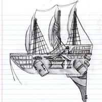 Pirate Airship by mmorpger
