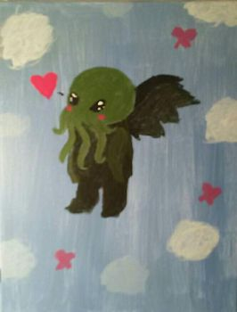 Cthulhu painting by HopefulDragon