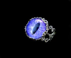 Custom Ring - Violet and Purple Shimmering Eye by LadyPirotessa